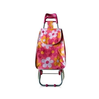 Тележка с сумкой Цветочная поляна