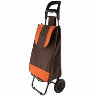Тележка багажная ТБР-20 коричневый с оранжевым грузопод.25кг.